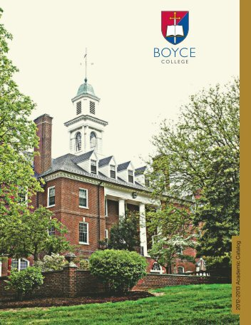 2012-2013 Academic Catalog - Boyce College