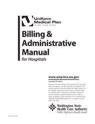 (UMP) Billing and Administrative Manual for hospitals - Regence ...