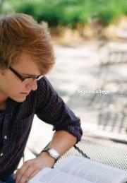 2012-2013 Prospective Student Viewbook - Boyce College