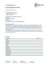 Aanmeldingsformulier - RINO Groep
