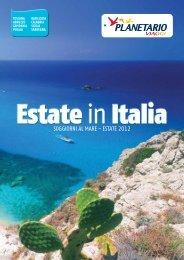 SOGGIORNI AL MARE - ESTATE 2012 - Planetario Viaggi