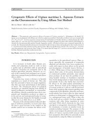 cytogenetic Effects of Urginea maritima L. Aqueous Extracts on the ...