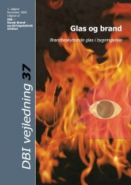 DBI vejledning 37 Glas og Brand ... - Byggecentrum