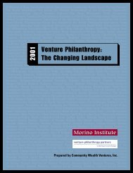 Essays - Venture Philanthropy Partners