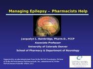 Managing Epilepsy – Pharmacists Help - FreeCE