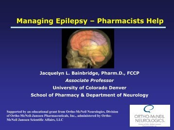 Managing Epilepsy – Pharmacists Help - FreeCE
