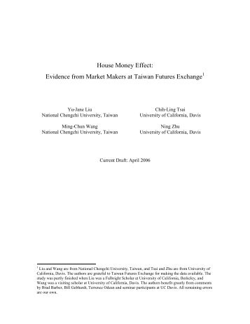 Evidence from Market Makers at Taiwan Futures Exchange - Faculty ...