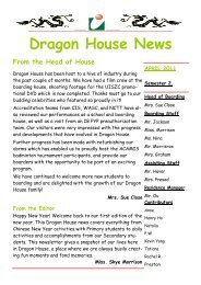 Dragon House News Apr 2011 - Utahloy International School