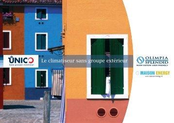 Climatiseur sans groupe exterieur Olimpia Splendid