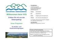 Unser Programm für Kinder- und ... - Naturpark Siebengebirge