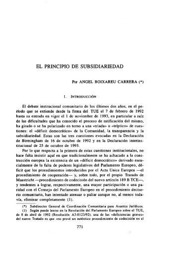 """""""El Principio de Subsidiariedad"""". Ed - Instituto de Derecho Público"""