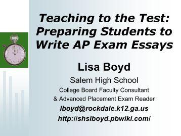 Writing essay exams
