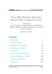 Hardware Algorithms Selected Topics in Signal Processing - microLab