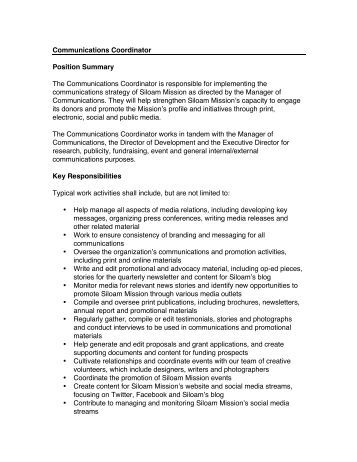 Pre-Sessional Project Coordinator Job Description - Southampton