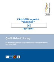 Klinik SGM Langenthal - H+ spitalinformation.ch