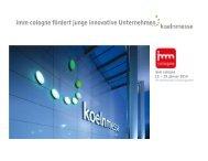 Präsentation Förderprogramm (pdf) - IMM Cologne