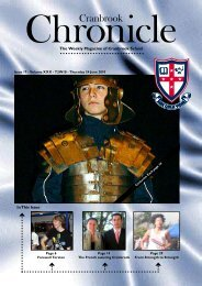In This Issue The Weekly Magazine of Cranbrook School