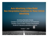 Auto Advertising - Advertising Standards Canada
