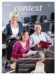 Context Nr° 8/9 2012 - Carrière (PDF, 2639 kb) - Sec Suisse