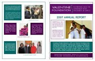 2007 ANNUAL REPORT - The Valentine Foundation