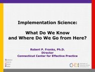 Implementation Science: What Do We Know and Where Do We Go ...