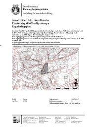 Årvollveien 15-21, Årvoll senter Planforslag til offentlig ettersyn ...