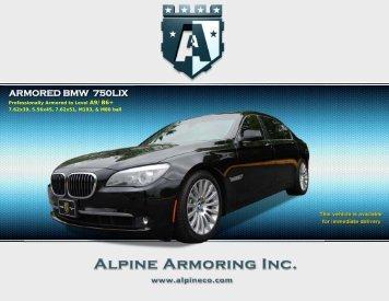 ARMORED BMW 750LIX - Alpine Armoring Inc.
