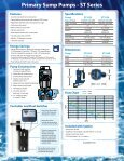 Primary Sump Pumps - ST Series - Page 2