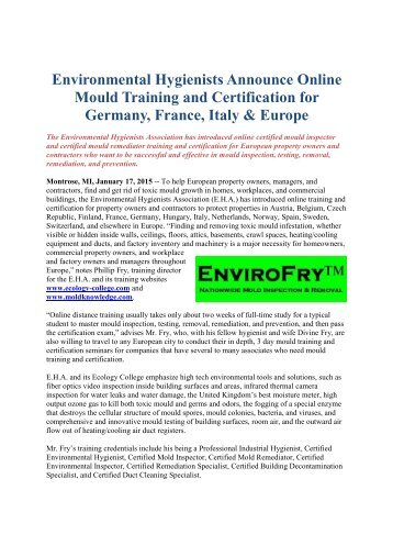 Fire And Water Restoration Certification Online