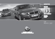 BMW ALPINA D3 BITURBO Price List 2011 01