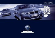BITURBO BITURBO BMW ALPINA PRICE LIST