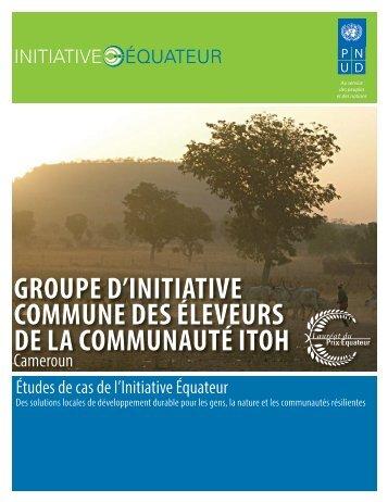 groupe d'initiative commune des éleveurs de la - Equator Initiative