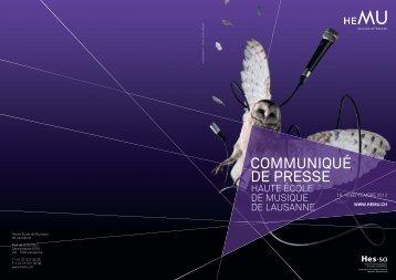 Communiqué de presse - HEMU