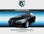 ARMORED BMW 5 SERIES - Alpine Armoring Inc.