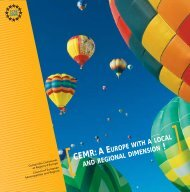 CEMR:A E ! - Council of European Municipalities and Regions