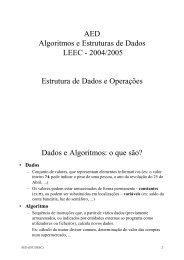 AED Algoritmos e Estruturas de Dados LEEC - 2004/2005 Estrutura ...