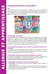 Flyer Allergie et apprentissage - Institut universitaire romand de ...