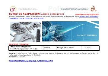 curso de adaptación: acceso curso 2013/14 proceso formativo ...