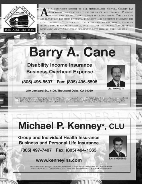 Page 6 – December issue of CITATIONS - Ventura County Bar ...