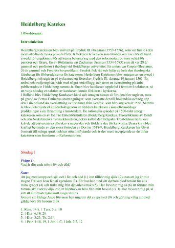 Heidelberg Katekes - Heidelberger Katechismus