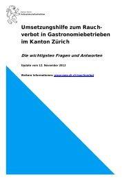 Fragen und Antworten zum Rauchverbot - Amt für Wirtschaft und ...