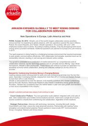 arkadin expands globally to meet rising demand for collaboration ...