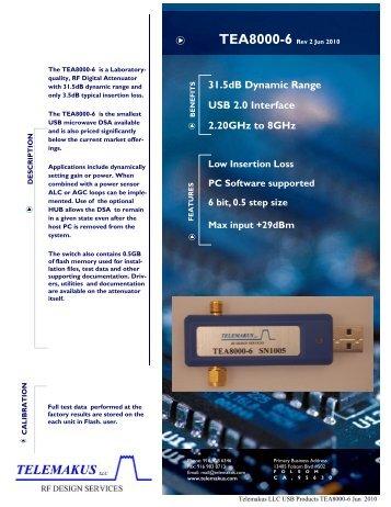 TEA8000-6 DataSheet - RfMW