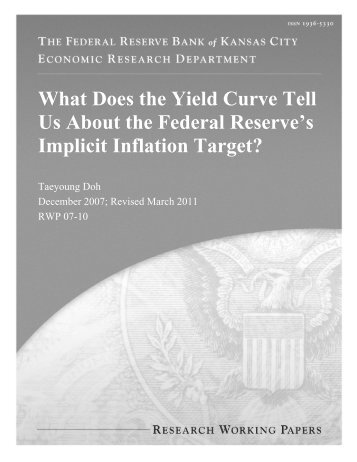 What Does the Yield Curve Tell Us About the Federal Reserve's ...