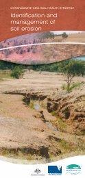 Identification and management of soil erosion - Corangamite CMA
