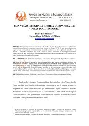 uma visão integrada sobre a companhia das vinhas do alto douro