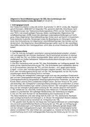 AGBs für DSL - Stadtwerke Lindau