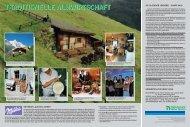 TRADITIONELLE ALMWIRTSCHAFT - Hohe Tauern