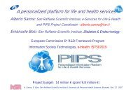 A personalized platform for life and health services, presentation
