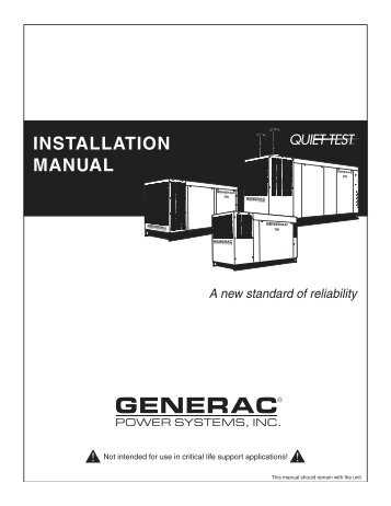 Wiring Diagram Generac Impact 36 Lp : 35 Wiring Diagram